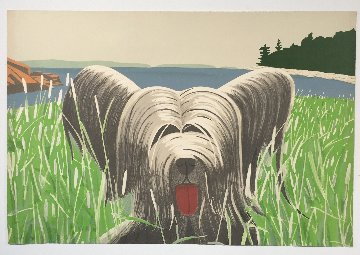 Dog At Duck Trap 1973 Limited Edition Print - Alex Katz