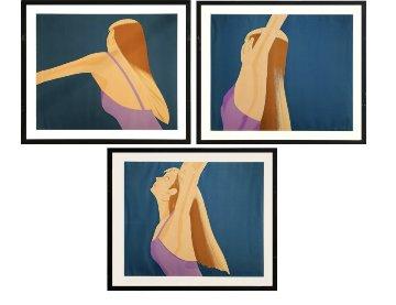 Untitled Suite of 3 Prints 1983 Limited Edition Print - Alex Katz