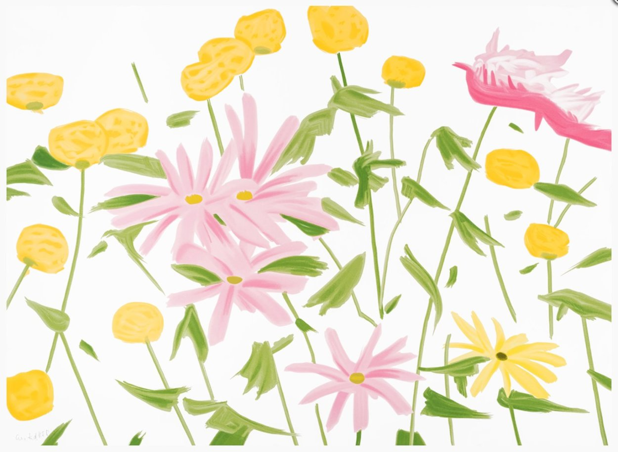 Spring Flowers 2017 Limited Edition Print by Alex Katz