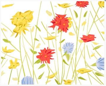 Wildflowers 2017 Limited Edition Print by Alex Katz