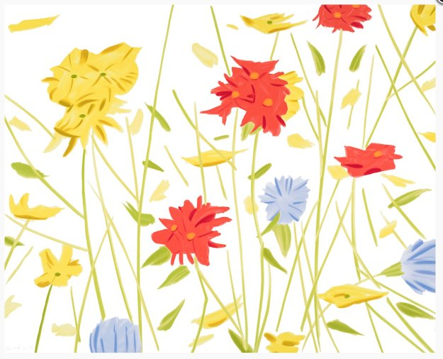 Wildflowers 2017 Limited Edition Print by Alex Katz