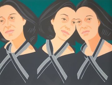 Alex And Ada Suite: Gray Ribbon 1990 Limited Edition Print - Alex Katz