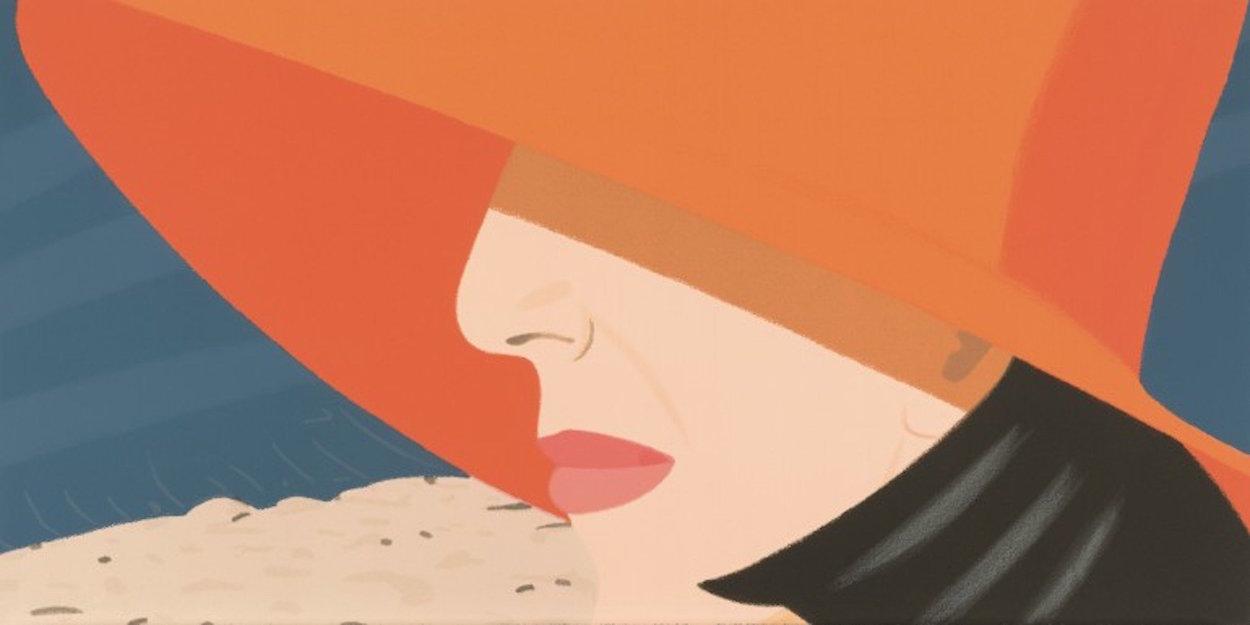 Alex And Ada Suite: Orange Hat 1990 36x125 Super Super Huge Limited Edition Print by Alex Katz