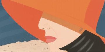 Alex And Ada Suite: Orange Hat 1990 36x125 Limited Edition Print - Alex Katz