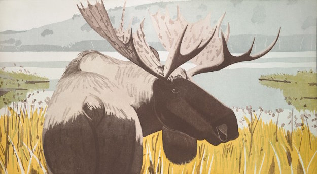 Moose 1983 Limited Edition Print by Alex Katz