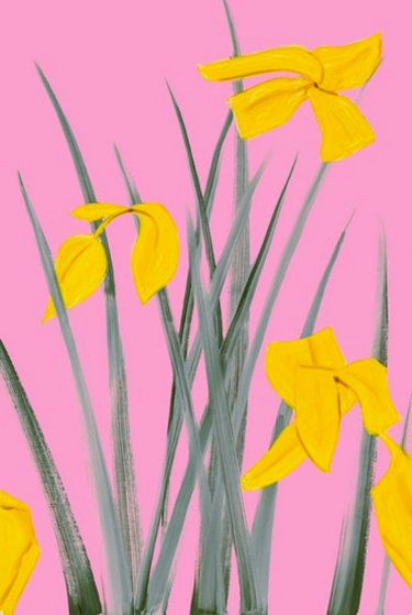 Yellow Flags 3 2020 Limited Edition Print by Alex Katz