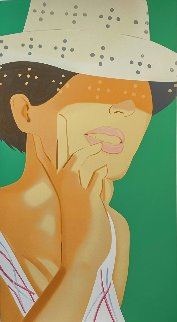 Straw Hat Vivien 2021 Limited Edition Print - Alex Katz