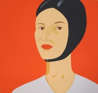 Ada in Bathing Cap  2012 46x48 Limited Edition Print by Alex Katz