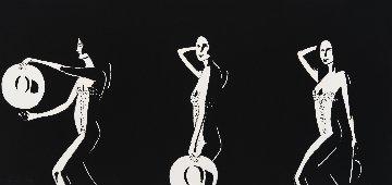 Ariel Black And White PP 2016 Limited Edition Print - Alex Katz