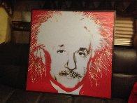 Albert Einstein State 1 Embellished  1996 Limited Edition Print by Steve Kaufman - 1