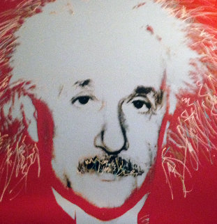Albert Einstein State 1 Embellished  1996 Limited Edition Print - Steve Kaufman