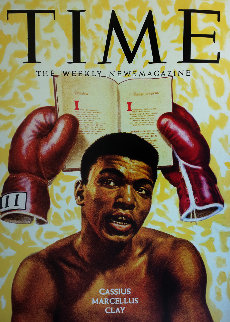Mahummad Ail Oylmpian Cassius Marcellus Clay Unique 2010 36x48 Original Painting by Steve Kaufman