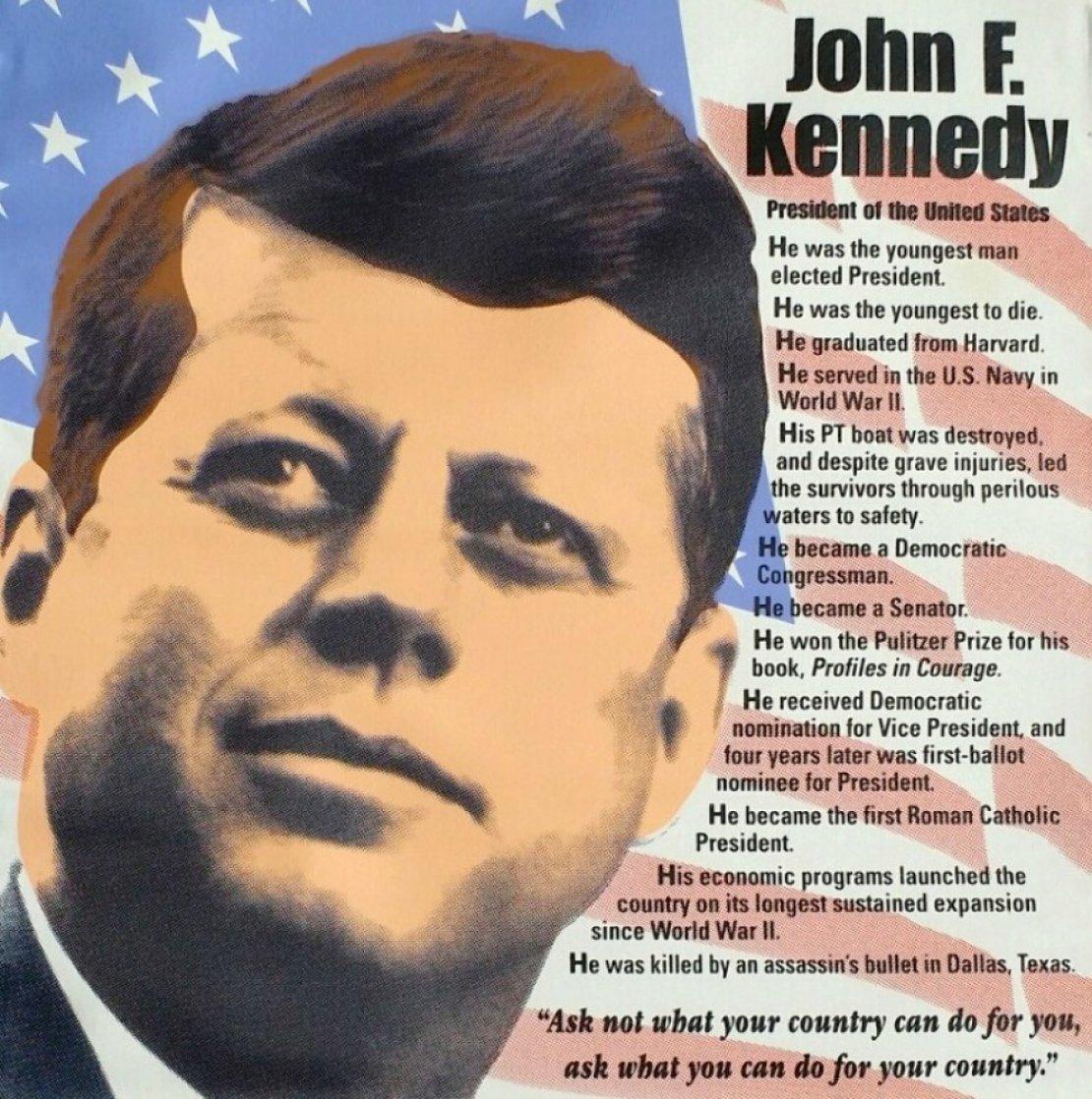 John F. Kennedy, Biography AP 2005 Limited Edition Print by Steve Kaufman