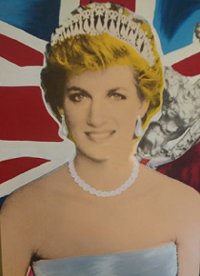 Princess Diana Embellished AP 2000 Limited Edition Print by Steve Kaufman