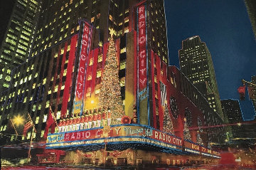 Radio City Music Hall New York 2008 72x46 Super Huge Original Painting - Steve Kaufman