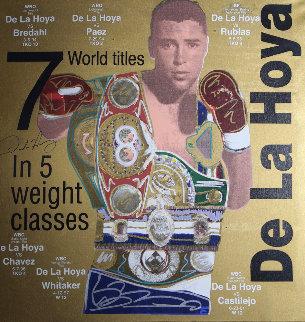 Oscar De La Hoya  36x36 Original Painting by Steve Kaufman