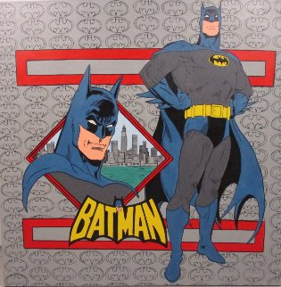 Batman 1995 59x59 Original Painting - Steve Kaufman