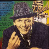Frank Sinatra - Sands Embellished Limited Edition Print by Steve Kaufman - 1
