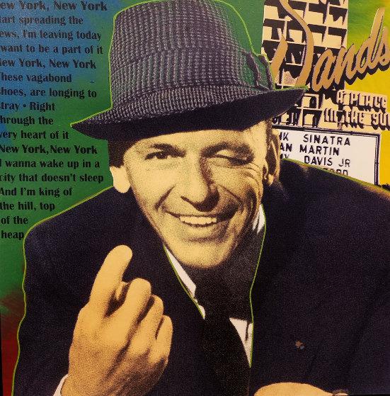 Frank Sinatra - Sands Embellished Limited Edition Print by Steve Kaufman