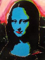 Mona Lisa - Blue PP Embellished Limited Edition Print by Steve Kaufman - 2