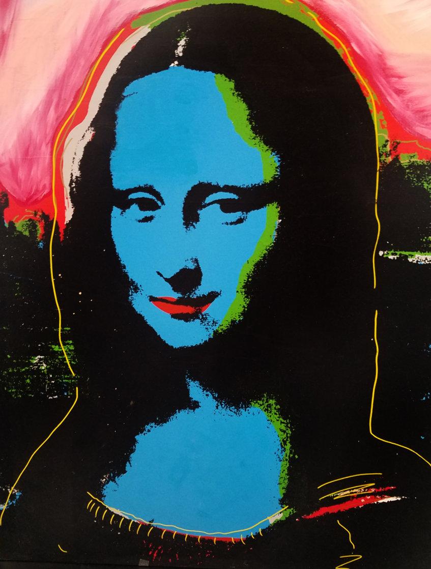 Mona Lisa - Blue PP Embellished Limited Edition Print by Steve Kaufman