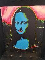 Mona Lisa - Blue PP Embellished Limited Edition Print by Steve Kaufman - 1