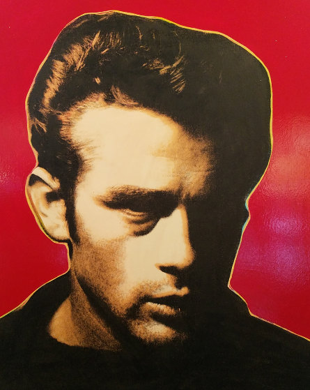 James Dean - Red - Embellished Limited Edition Print by Steve Kaufman