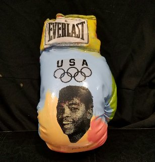 Muhammad Ali - Hand Signed  Boxing Glove Unique Other by Steve Kaufman