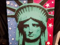 Statute of Liberty Embellished  Limited Edition Print by Steve Kaufman - 1