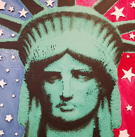 Statute of Liberty Embellished  Limited Edition Print by Steve Kaufman - 0