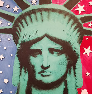 Statute of Liberty Embellished  Limited Edition Print by Steve Kaufman