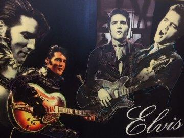 Elvis Presley Unique 2007 40x60 Original Painting by Steve Kaufman