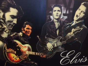 Elvis Presley Unique 2007 40x60 Original Painting by Steve Kaufman