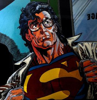 Superman Unique 60x60 Super Huge Original Painting - Steve Kaufman