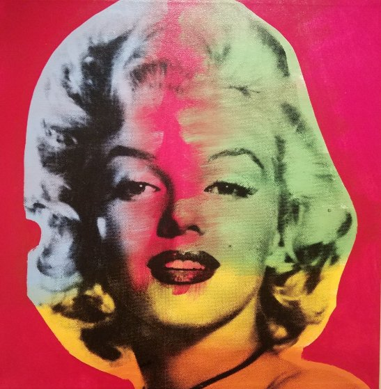 Marilyn- State VII Red Background Embellished 1995 Limited Edition Print by Steve Kaufman
