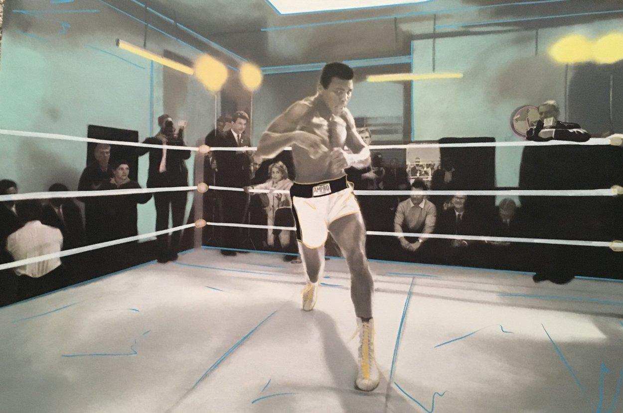 Muhammad Ali Collection Unique 32x48 Super Huge Original Painting by Steve Kaufman