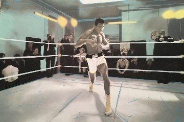 Muhammad Ali Collection Unique 32x48 Huge Original Painting - Steve Kaufman