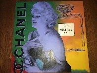 Marilyn Monroe Chanel #5  Unique 54x54 Super Huge Original Painting by Steve Kaufman - 1
