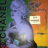 Marilyn Monroe Chanel #5  Unique 54x54 Super Huge Original Painting by Steve Kaufman - 0