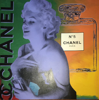 Marilyn Monroe Chanel #5  Unique 54x54 Original Painting - Steve Kaufman