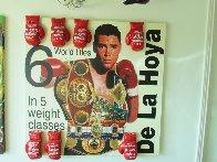 Oscar De La Hoya 2000 60x60 Super Huge Original Painting by Steve Kaufman - 1