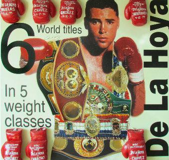 Oscar De La Hoya 2000 60x60 Original Painting by Steve Kaufman