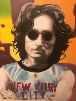 John Lennon Unique 2001 53x40 Original Painting - Steve Kaufman