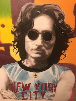 John Lennon Unique 2001 53x40 Super Huge Original Painting - Steve Kaufman