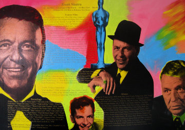 Frank Sinatra 1990 48x68 Super Huge Limited Edition Print - Steve Kaufman