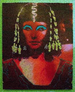 Elizabeth Taylor As Cleopatra Original Painting by Steve Kaufman