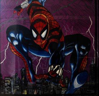 Spider Man 1996 6x6 Feet Mural 72x72 Huge Original Painting - Steve Kaufman
