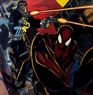 Spiderman 1996 65x65 Super Huge Original Painting - Steve Kaufman