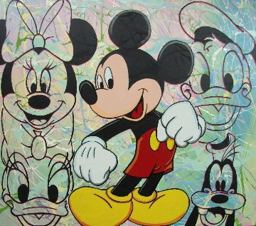Mickey And the Gang 36x40 Original Painting - Steve Kaufman