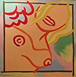 Homage to Wesselmann I 2010 48x48 Original Painting - Steve Kaufman
